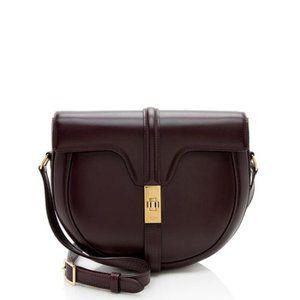 Celine Burgundy Leather Besace 16 Crossbody Bag